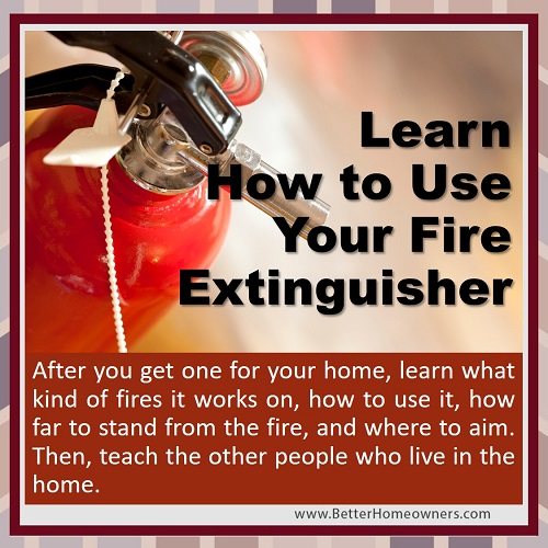 learn to use your Fire Extinguisher