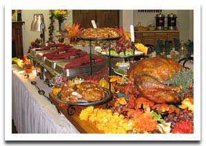 thanksgiving-turkey-buffet-table